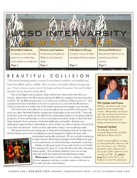 Christmas Newsletter 2007